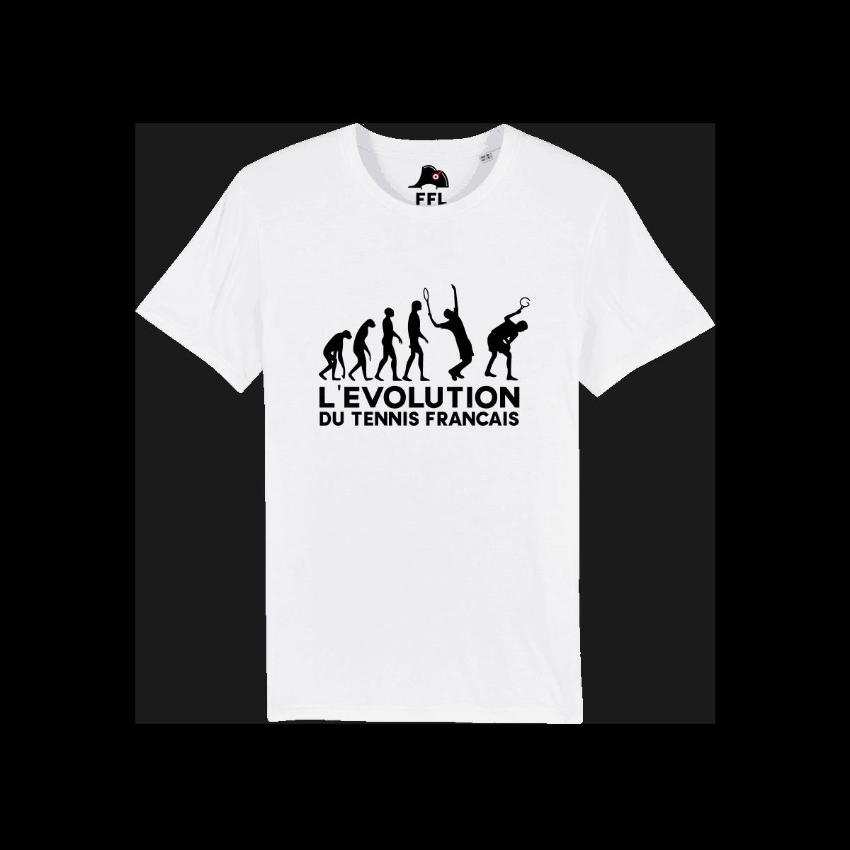 t-shirt évolution du tennis français FFL
