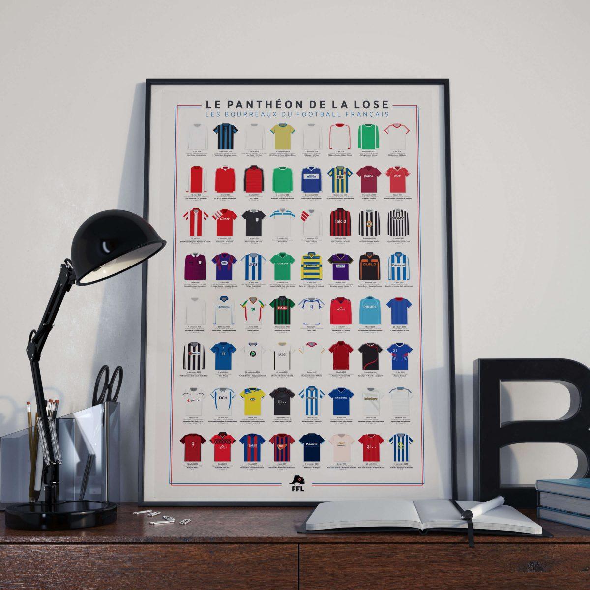 Affiche football FFL Panthéon de la Lose