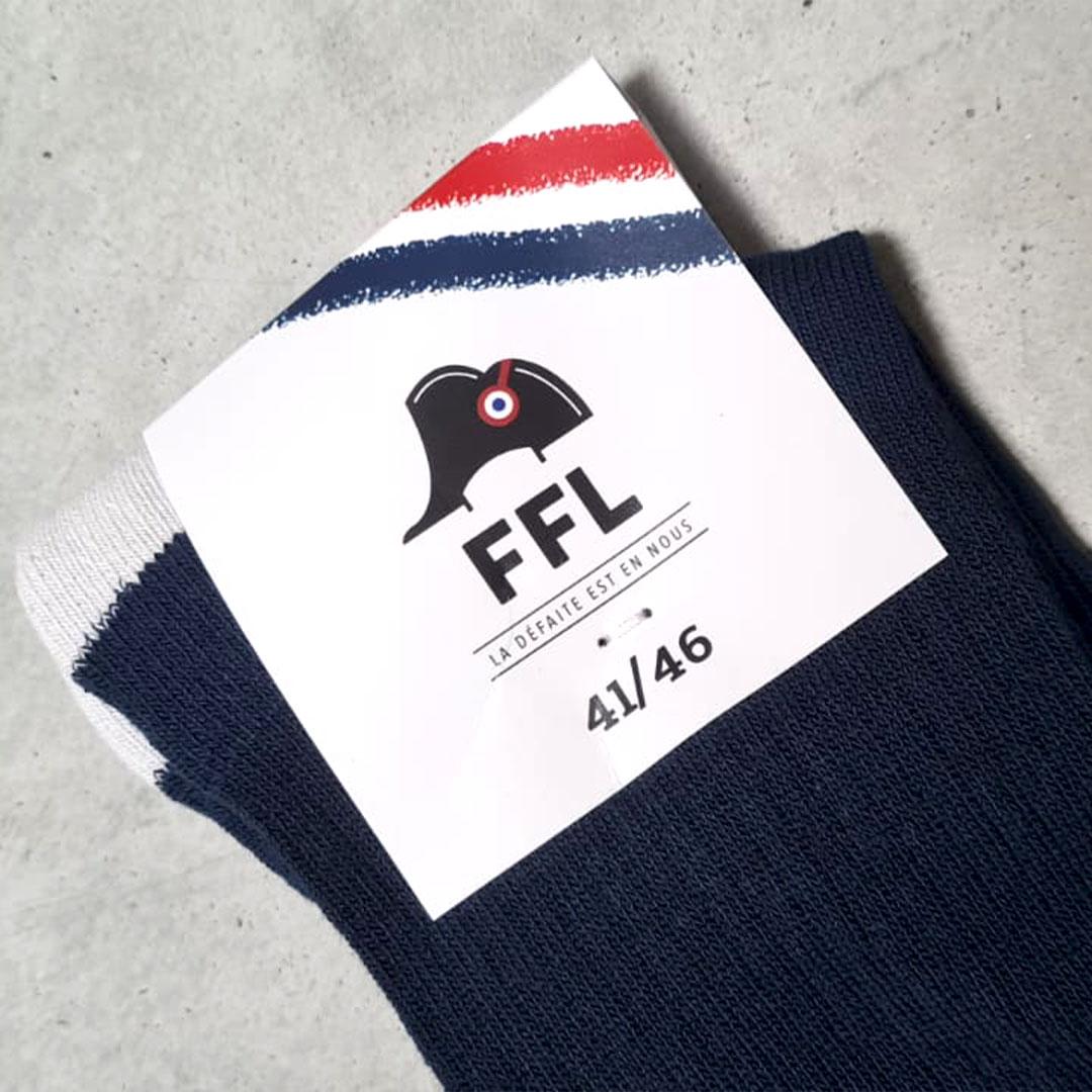 Chaussettes FFL pied gauche