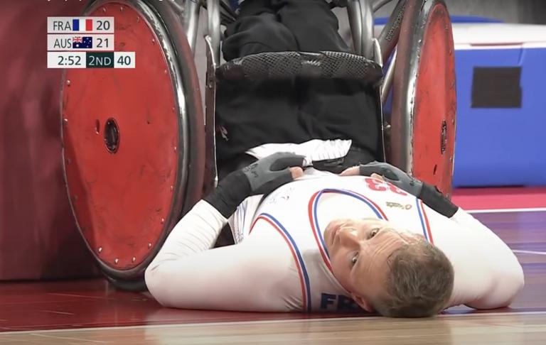 Jeux paralympiques Rugby fauteuil France-Australie